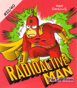 PaxToy.com - #32 / 40 Radioactive Man из Cheetos: The Simpsons Bartman