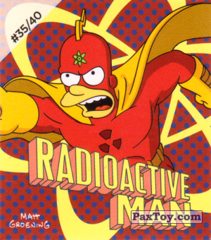 PaxToy.com - #35 / 40 Radioactive Man из Cheetos: The Simpsons Bartman