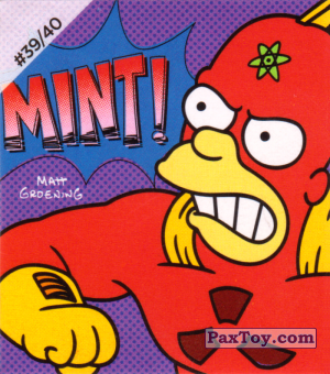 PaxToy.com - #39 / 40 Radioactive Man - Mint! из Cheetos: The Simpsons Bartman