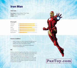 PaxToy.com - 01 Iron Man (Сторна-back) из Z Energy: Marvel Avengers (Blokhedz)