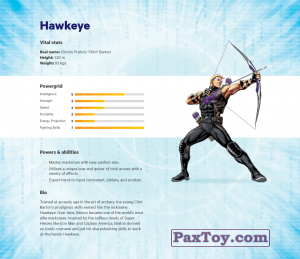 PaxToy.com - 06 Hawkeye (Сторна-back) из Z Energy: Marvel Avengers (Blokhedz)