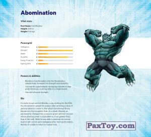 PaxToy.com - 13 Abomination (Сторна-back) из Z Energy: Marvel Avengers (Blokhedz)