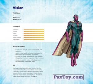 PaxToy.com - 14 Vision (Сторна-back) из Z Energy: Marvel Avengers (Blokhedz)