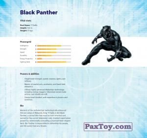 PaxToy.com - 15 Black Panther (Сторна-back) из Z Energy: Marvel Avengers (Blokhedz)