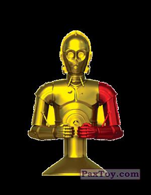 PaxToy.com - 32 C-3PO (AURIU) из Mega Image: Star Wars Stikeez Disney