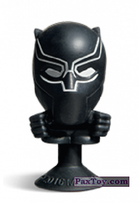PaxToy.com - 01 Black Panther (Stikeez) из Carrefour: Marvel Avengers (Megapopz)