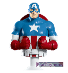 PaxToy.com - 01 Captain America (Canada) (Сторна-back) из Air Miles: Marvel Mania (Micropopz)