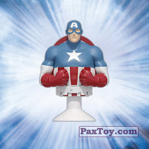 PaxToy.com - 01 Captain America (Canada) из Air Miles: Marvel Mania (Micropopz)