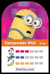 PaxToy.com - 01 Tanzender Phil (Сторна-back) из REWE: Minions Cards
