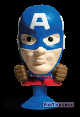 PaxToy.com - 02 Captain America (Stikeez) из Carrefour: Marvel Avengers (Megapopz)