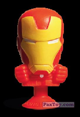 PaxToy.com - 03 Iron Man (Stikeez) из Carrefour: Marvel Avengers (Megapopz)