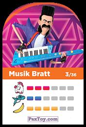 PaxToy.com - 03 Musik Bratt (Сторна-back) из REWE: Minions Cards