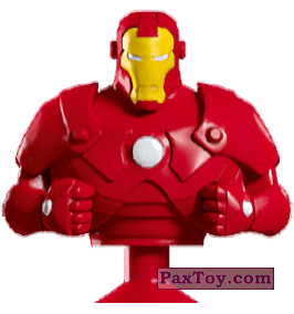 PaxToy.com - 04 Iron Man (Canada) (Сторна-back) из Air Miles: Marvel Mania (Micropopz)