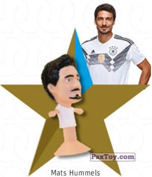 PaxToy.com - 04 Mats Hummels из REWE: DFB Fussball Popz 2018 (Stikeez)