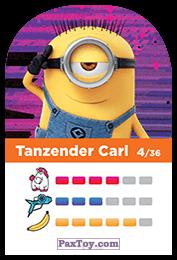 PaxToy.com - 04 Tanzender Carl (Сторна-back) из REWE: Minions Cards