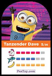 PaxToy.com - 05 Tanzender Dave (Сторна-back) из REWE: Minions Cards