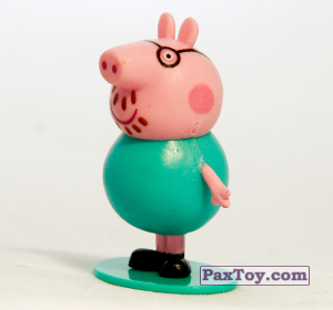PaxToy.com - 06 Папа Свин (первое издание) из Choco Balls: Свинка Пеппа
