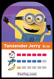 PaxToy.com - 06 Tanzender Jerry (Сторна-back) из REWE: Minions Cards