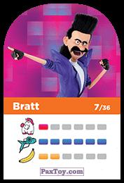 PaxToy.com - 07 Bratt (Сторна-back) из REWE: Minions Cards