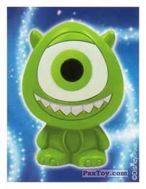 PaxToy.com - 07 Mike Wazowski - Monster, Inc. (Sticker) из REWE: Die Disney Wikkeez Stickers