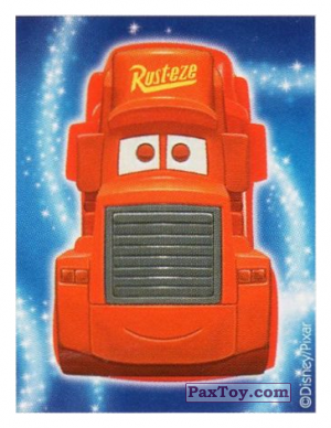 PaxToy.com - 09 Mack Truck - Cars (Sticker) из REWE: Die Disney Wikkeez Stickers