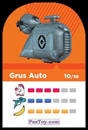PaxToy.com - 10 Grus Auto (Сторна-back) из REWE: Minions Cards