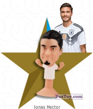 PaxToy.com - 10 Jonas Hector из REWE: DFB Fussball Popz 2018 (Stikeez)