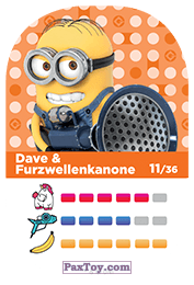 PaxToy.com - 11 Dave & Furzwellenkanone (Сторна-back) из REWE: Minions Cards