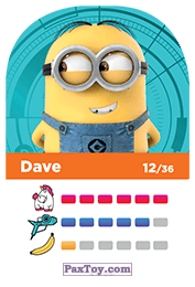 PaxToy.com - 12 Dave (Сторна-back) из REWE: Minions Cards