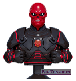 PaxToy.com - Stikeez, Прилипалы 12 Red Skull (Canada) (Сторна-back) из Air Miles: Marvel Mania (Micropopz)