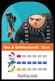 PaxToy.com - 13 Gru & Gefrierstrahl (Сторна-back) из REWE: Minions Cards