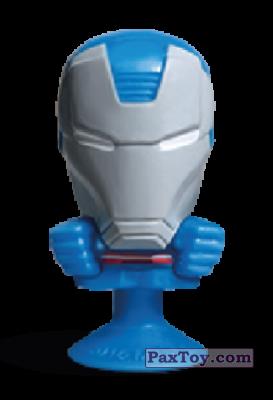 PaxToy.com - 14 Iron Patriot (Stikeez) из Carrefour: Marvel Avengers (Megapopz)