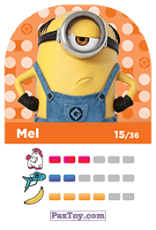 PaxToy.com - 15 Mel (Сторна-back) из REWE: Minions Cards