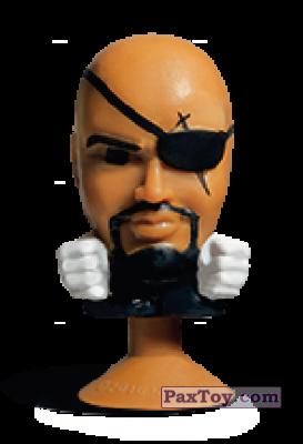 PaxToy.com - 15 Nick Fury (Stikeez) из Carrefour: Marvel Avengers (Megapopz)