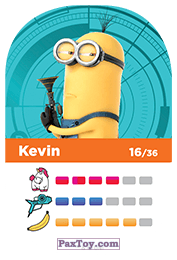PaxToy.com - 16 Kevin (Сторна-back) из REWE: Minions Cards