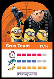 PaxToy.com - 17 Grus Team (Сторна-back) из REWE: Minions Cards