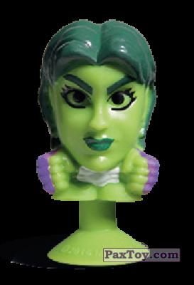 PaxToy.com - 17 She Hulk (Stikeez) из Carrefour: Marvel Avengers (Megapopz)