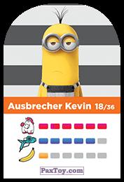 PaxToy.com - 18 Ausbrecher Kevin (Сторна-back) из REWE: Minions Cards