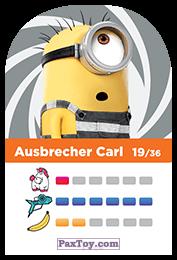 PaxToy.com - 19 Ausbrecher Carl (Сторна-back) из REWE: Minions Cards