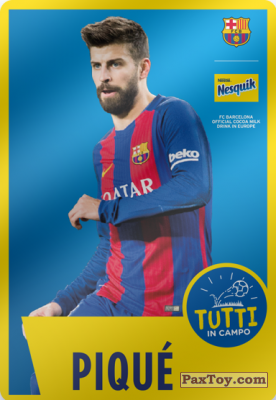 PaxToy.com - 02 Piqué из Nesquik: Cards F.C. Barcelona (Italy)