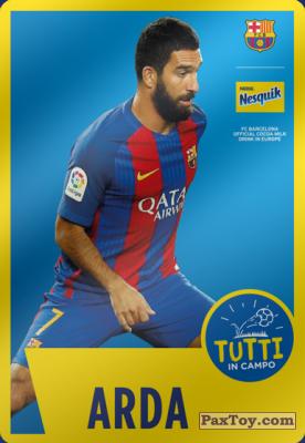 PaxToy.com - 06 Arda из Nesquik: Cards F.C. Barcelona (Italy)