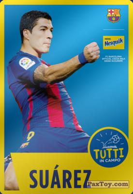 PaxToy.com - 08 Suárez из Panini: Nesquik Cards F.C. Barcelona (Italy)