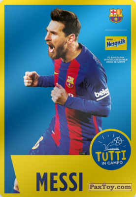 PaxToy.com - 09 Messi из Nesquik: Cards F.C. Barcelona (Italy)