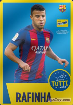 PaxToy.com - 11 Rafinha из Nesquik: Cards F.C. Barcelona (Italy)