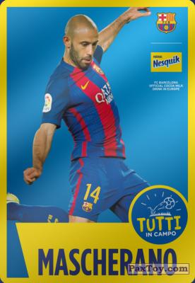 PaxToy.com - 13 Mascherano из Nesquik: Cards F.C. Barcelona (Italy)
