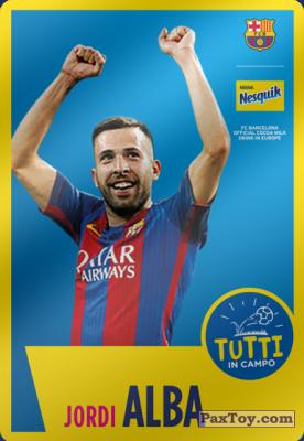 PaxToy.com - 15 Jordi Alba из Nesquik: Cards F.C. Barcelona (Italy)
