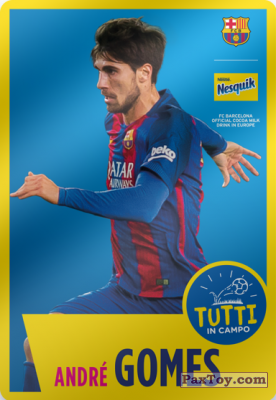 PaxToy.com - 18 André Gomes из Nesquik: Cards F.C. Barcelona (Italy)