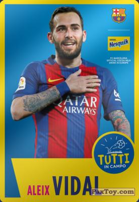 PaxToy.com - 19 Aleix Vidal из Nesquik: Cards F.C. Barcelona (Italy)