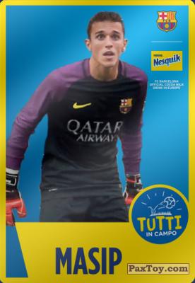 PaxToy.com - 21 Masip из Nesquik: Cards F.C. Barcelona (Italy)