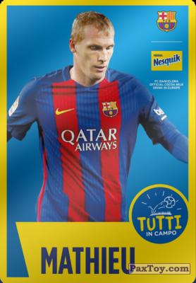 PaxToy.com - 22 Mathieu из Panini: Nesquik Cards F.C. Barcelona (Italy)